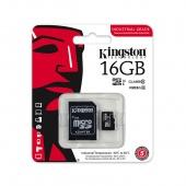 MicroSD 16GB Kingston Class 10 Canvas UHS-I U1 (80 Mb/s) + SD адаптер - фото, изображение, картинка
