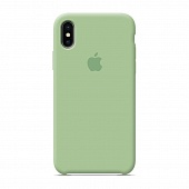 Накладка Silicone Case Original iPhone X/XS  (1) Оливковый