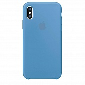 Накладка Silicone Case Original iPhone X/XS (16) Голубой