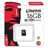 MicroSD 16GB Kingston Class 10 Canvas UHS-I U1 (80 Mb/s)