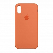 Накладка Silicone Case Original iPhone X/XS  (2) Оранжевый